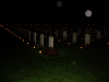 All candles still burning at the Holten Canadian War Cemetery